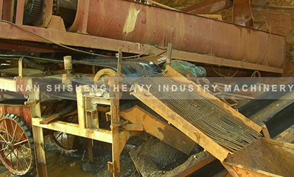 Hematite mineral processing scene in Indonesia