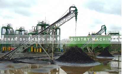 Titanium ore dressing spot in Vietnam - chute ore dressing method