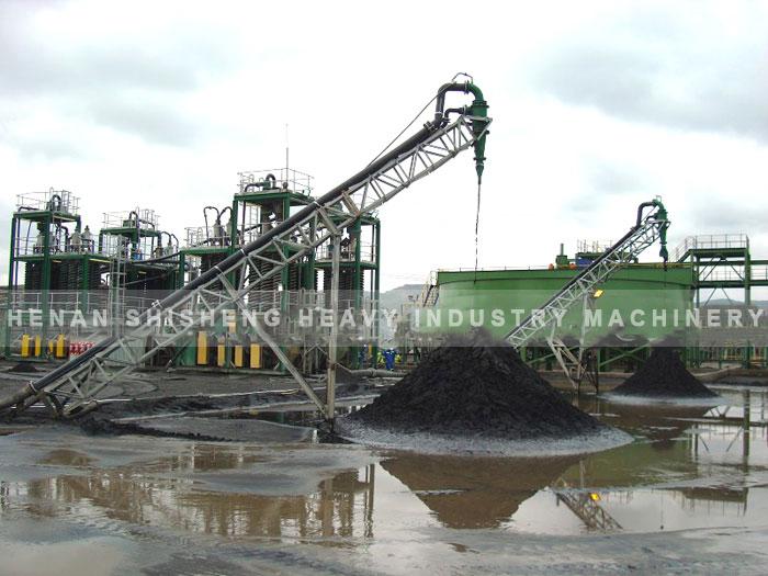 Titanium ore dressing spot in Vietnam - chute ore dressing method-01