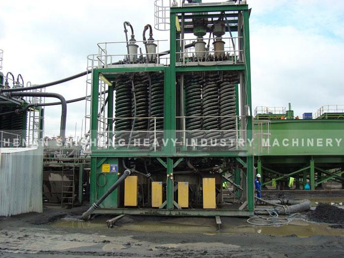 Titanium ore dressing spot in Vietnam - chute ore dressing method-02