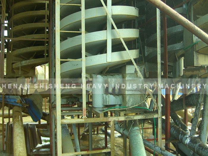 Titanium ore dressing spot in Vietnam - chute ore dressing method-04